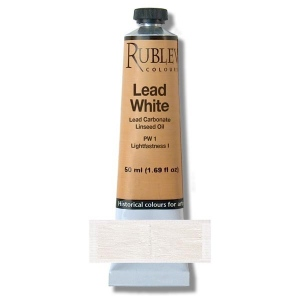 Rublev Colours Lead White 150 ml - Color: White