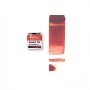 Natural Pigments Pozzuoli Red (Half Pan) - Color: Red