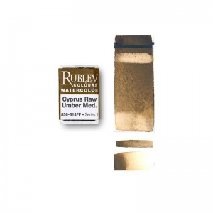 Rublev Colours Cyprus Natural Pigments Cyprus Raw Umber Medium (Full Pan)