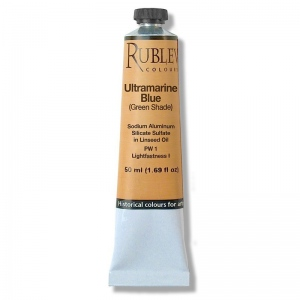 Rublev Colours Ultramarine Blue (Greenish Shade) 130 ml - Color: Blue
