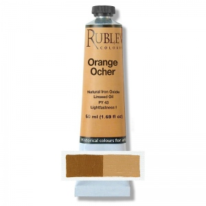 Natural Pigments Orange Ocher 130 ml - Color: Yellow