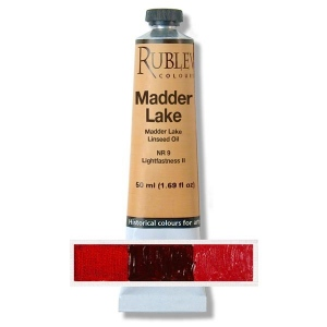 Natural Pigments Alizarin Crimson 50 ml - Color: Bluish Red