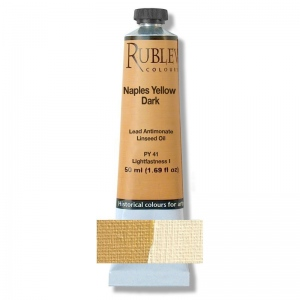 Rublev Colours Naples Yellow Paris (Lead Antimonate) 50 ml - Color: Yellow