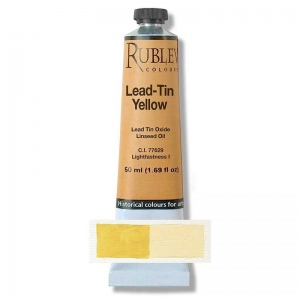 Natural Pigments Lead-Tin Yellow Dark 20 ml - Color: Yellow