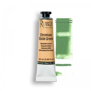 Natural Pigments Chromium Oxide Green 15ml - Color: Green