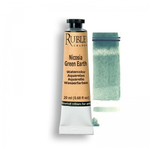 Natural Pigments Nicosia Green Earth 15ml - Color: Green