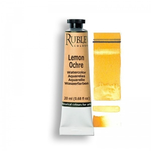Lemon Ocher Watercolor Paint