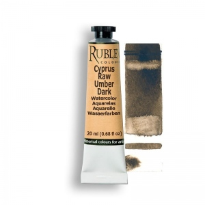 Natural Pigments Cyprus Raw Umber Dark 15ml - Color: Brown