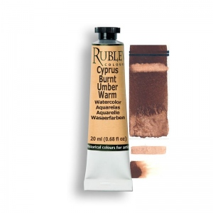 Rublev Colours Cyprus Burnt Umber Warm 15ml - Color: Brown