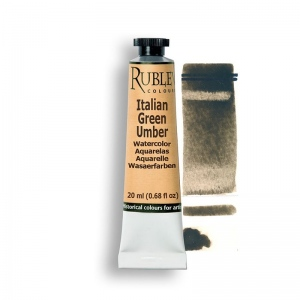 Natural Pigments Italian Green Umber 15ml - Color: Brown