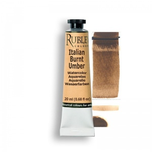 Rublev Colours Italian Burnt Umber 15ml - Color: Brown