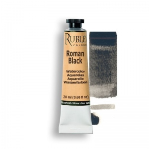 Roman Black Watercolor Paint
