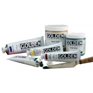 Golden® Heavy Body Acrylic 2 oz. Phthalo Green (Yellow Shade): Green, Yellow, Tube, 2 oz, 59 ml, Acrylic, (model 0001275-2), price per tube