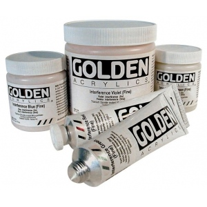 Golden® Heavy Body Acrylic 2 oz. Interference Gold (fine): Metallic, Tube, 2 oz, 60 ml, Acrylic, (model 0004040-2), price per tube