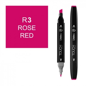 ShinHan Art TOUCH Twin Rose Red Marker: Black, Red/Pink, Double-Ended, Alcohol-Based, Refillable, Dual, (model 1110003-R3), price per each