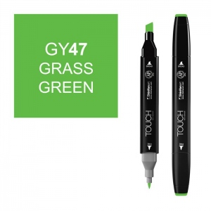 ShinHan Art TOUCH Twin Grass Green Marker: Black, Green, Double-Ended, Alcohol-Based, Refillable, Dual, (model 1110047-GY47), price per each