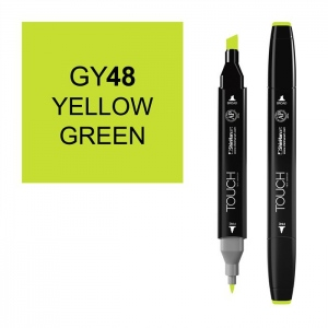 ShinHan Art TOUCH Twin Yellow Green Marker: Black, Green, Double-Ended, Alcohol-Based, Refillable, Dual, (model 1110048-GY48), price per each