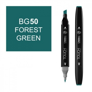 ShinHan Art TOUCH Twin Forest Green Marker: Black, Green, Double-Ended, Alcohol-Based, Refillable, Dual, (model 1110050-BG50), price per each