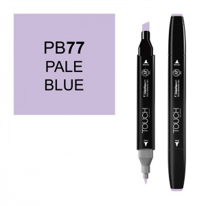 ShinHan Art TOUCH Twin Pale Blue Marker: Black, Blue, Double-Ended, Alcohol-Based, Refillable, Dual, (model 1110077-PB77), price per each