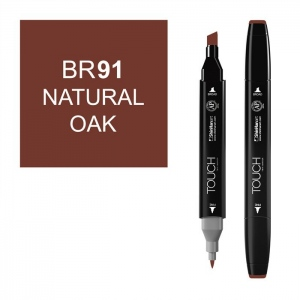 ShinHan Art TOUCH Twin Natural Oak Marker: Black, Brown, Double-Ended, Alcohol-Based, Refillable, Dual, (model 1110091-BR91), price per each