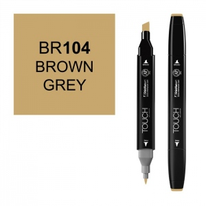 ShinHan Art TOUCH Twin Brown Grey Marker: Black, Brown, Double-Ended, Alcohol-Based, Refillable, Dual, (model 1110104-BR104), price per each