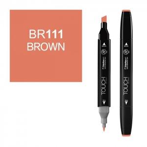 ShinHan Art TOUCH Twin Brown Marker: Black, Brown, Double-Ended, Alcohol-Based, Refillable, Dual, (model 1110111-BR111), price per each