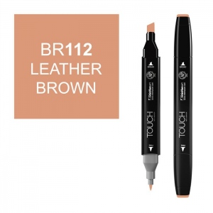 ShinHan Art TOUCH Twin Leather Brown Marker: Black, Brown, Double-Ended, Alcohol-Based, Refillable, Dual, (model 1110112-BR112), price per each