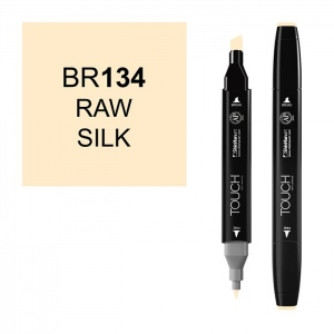 ShinHan Art TOUCH Twin Raw Silk Marker: Black, White/Ivory, Double-Ended, Alcohol-Based, Refillable, Dual, (model 1110134-BR134), price per each