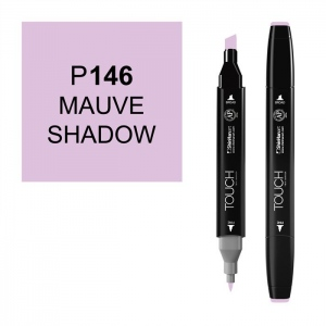 ShinHan Art TOUCH Twin Mauve Shadow Marker: Black, Purple, Double-Ended, Alcohol-Based, Refillable, Dual, (model 1110146-P146), price per each