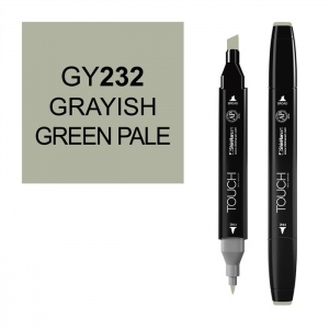 ShinHan Art TOUCH Twin Grayish Green Pale Marker: Black, Green, Double-Ended, Alcohol-Based, Refillable, Dual, (model 1110232-GY232), price per each
