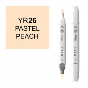 ShinHan Art TOUCH Twin Brush Pastel Peach Marker: White, Orange, Double-Ended, Alcohol-Based, Refillable, Dual, (model 1210026-YR26), price per each