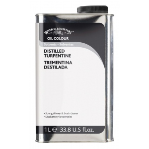 Winsor & Newton™ Distilled Turpentine 1 Liter: 1 ltr, Solvents, (model 3253744), price per each