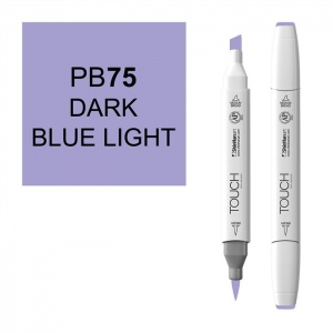 ShinHan Art TOUCH Twin Brush Dark Blue Light Marker: White, Blue, Double-Ended, Alcohol-Based, Refillable, Dual, (model 1210075-PB75), price per each