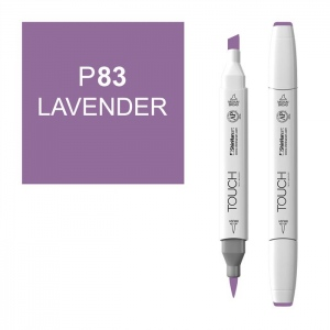 ShinHan Art TOUCH Twin Brush Lavender Marker: White, Purple, Double-Ended, Alcohol-Based, Refillable, Dual, (model 1210083-P83), price per each