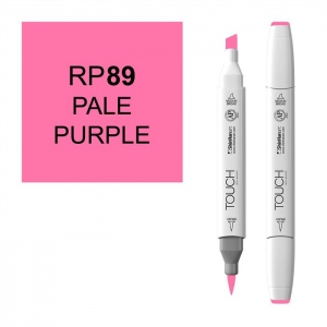 ShinHan Art TOUCH Twin Brush Pale Purple Marker: White, Purple, Double-Ended, Alcohol-Based, Refillable, Dual, (model 1210089-RP89), price per each