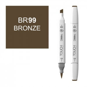 Bronze Marker: White, Brown, Double-Ended, Alcohol-Based, Refillable, Dual, (model 1210099-BR99), price per each