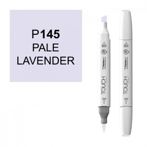 ShinHan Art TOUCH Twin Brush Pale Lavender Marker: White, Purple, Double-Ended, Alcohol-Based, Refillable, Dual, (model 1210145-P145), price per each