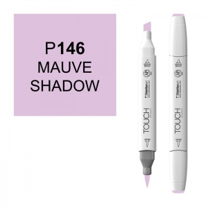 ShinHan Art TOUCH Twin Brush Mauve Shadow Marker: White, Purple, Double-Ended, Alcohol-Based, Refillable, Dual, (model 1210146-P146), price per each