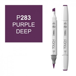 ShinHan Art TOUCH Twin Brush Purple Deep Marker: White, Purple, Double-Ended, Alcohol-Based, Refillable, Dual, (model 1210283-P283), price per each