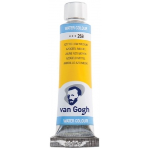 Royal Talens van Gogh® Watercolor 10ml Azo Yellow Medium: Yellow, Tube, 10 ml, Watercolor, (model 20012690), price per tube