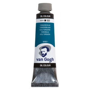 Royal Talens van Gogh® Oil Color 40ml Turquoise Blue; Color: Blue; Format: Tube; Size: 40 ml; Type: Oil; (model 2055223), price per tube