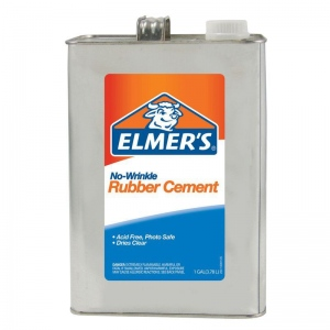 Elmer's® No-Wrinkle Rubber Cement 1gal: 1 gal, (model 234), price per each