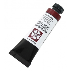 Daniel Smith Extra Fine™ Watercolor 15ml Burnt Sienna: Red/Pink, Tube, 15 ml, Watercolor, (model 284600010), price per tube