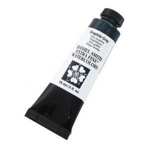 Daniel Smith Extra Fine™ Watercolor 15ml Graphite Gray: Black/Gray, Tube, 15 ml, Watercolor