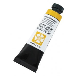 Daniel Smith Extra Fine™ Watercolor 15ml Hansa Yellow Deep: Yellow, Tube, 15 ml, Watercolor, (model 284600040), price per tube