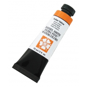 Daniel Smith Extra Fine™ Watercolor 15ml Indian Yellow: Yellow, Tube, 15 ml, Watercolor, (model 284600045), price per tube