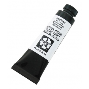 Daniel Smith Extra Fine™ Watercolor 15ml Ivory Black: Black/Gray, Tube, 15 ml, Watercolor, (model 284600048), price per tube