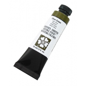 Daniel Smith Extra Fine™ Watercolor 15ml Olive Green: Green, Tube, 15 ml, Watercolor, (model 284600063), price per tube