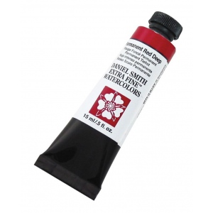 Daniel Smith Extra Fine™ Watercolor 15ml Permanent Red Deep: Red/Pink, Tube, 15 ml, Watercolor, (model 284600069), price per tube