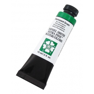 Daniel Smith Extra Fine™ Watercolor 15ml Permanent Green: Green, Tube, 15 ml, Watercolor, (model 284600070), price per tube
